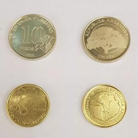 Lote Nuevas Monedas $ 2 Y $ 10 Series Árboles Palermo