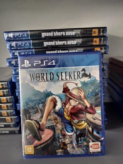 One Piece World Seeker Ps4 Mídia Física Lacrado Em Português