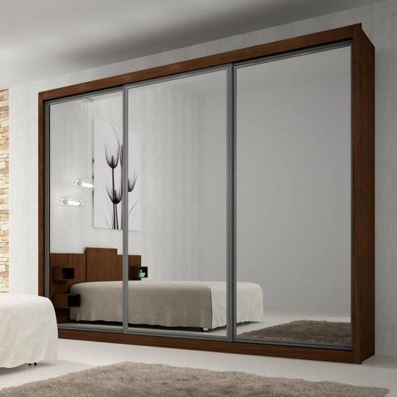 Guarda-roupa Casal Com Espelho 3 Pt