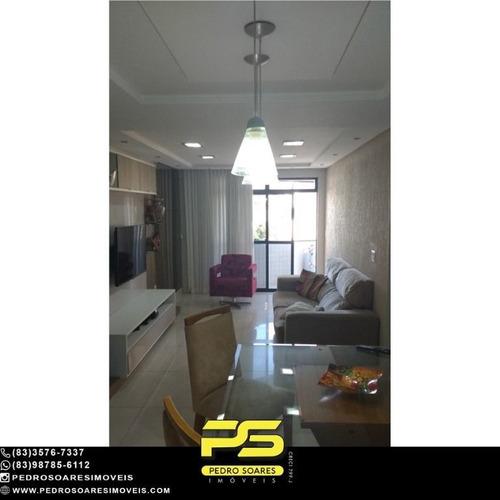 Imagem 1 de 15 de (projetados) Apartamento Com 3 Dormitórios À Venda, 114 M² Por R$ 500.000 - Bessa - João Pessoa/pb - Ap5371