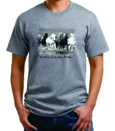 Imagem 1 de 2 de Camiseta - Vento, Cavalo, Peão