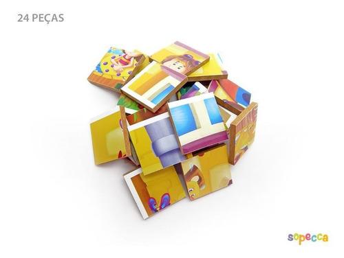 Imagem 1 de 4 de -quebra-cabeça Férias Animadas 24 Peças - Sopecca Qb208