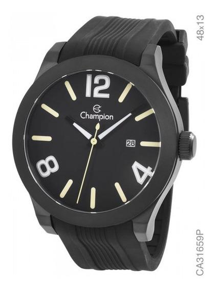 Relógio Champion Masculino Preto Analógico Ca31659p