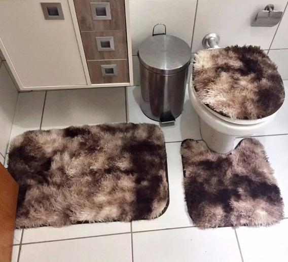 Jogo De Banheiro Felpudo 3pçs
