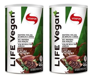 Life Vegan - 2x 450 Gramas - Vitafor - Cacau