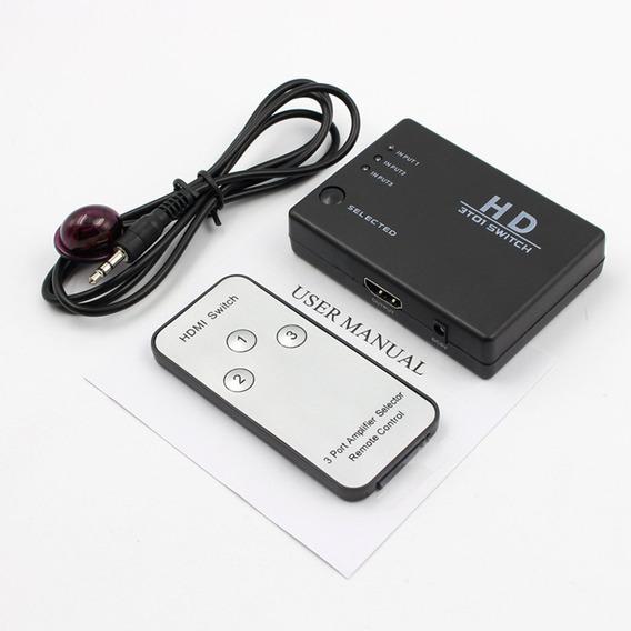 Hdmi Switcher Três Em E Fora Hdmi Switcher 3 Portas Hdmi Swi