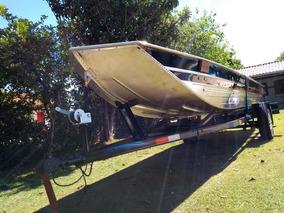 Barco Alumínio Semi Chata Com Ou Sem Comando A Distancia