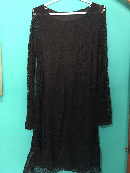 Vestido De Encaje Corto Negro