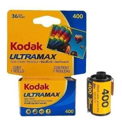 Filme Kodak Ultramax Iso 400 Colorido 36 Poses