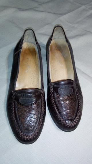 Zapatos Mujer Marrones De Cuero N° 39 Clasicos