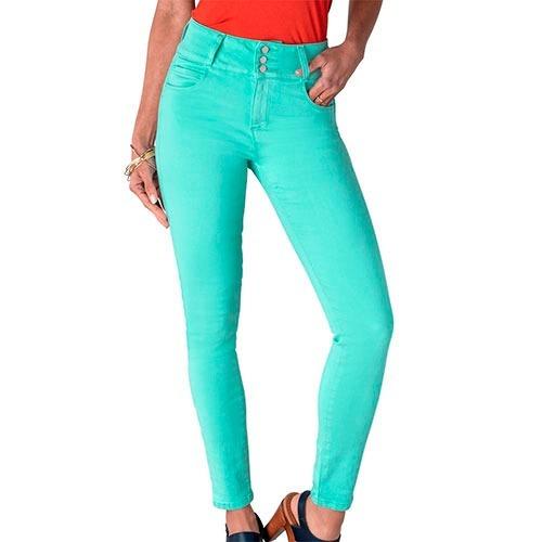 Pantalon Casual Dama Rev 20588 Verde 05-15 087-807 T4