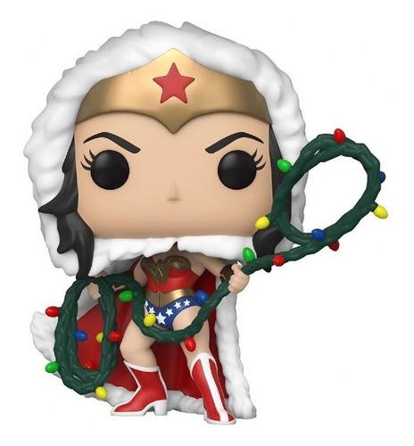 Imagen 1 de 2 de Funko Pop! Heroes Navidad Dc - Mujer Maravilla Luces #353
