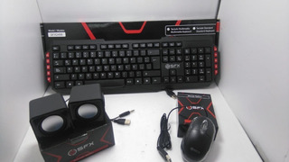Combo Kit Teclado Multimedia + Mouse + Parlante Marca Sfx