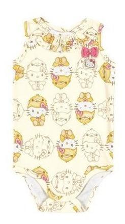 Body Regata Suedine - Abstrato Bege - Hello Kitty
