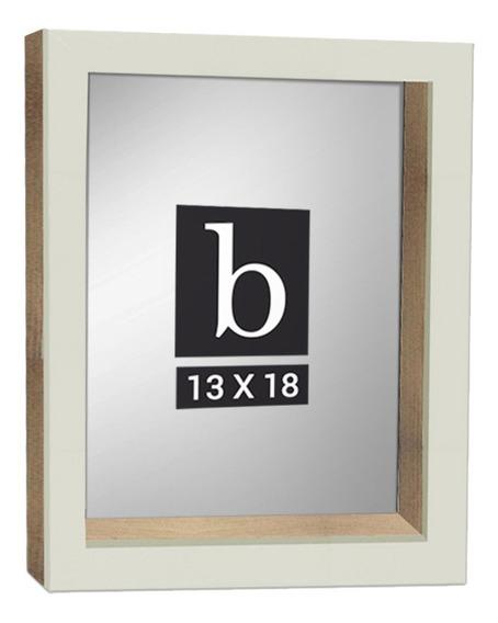 Portarretrato Box 13x18cm Marfil - 18 Cuotas Sin Interes