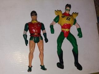 Lote X2 Muñecos Robin (super Amigos 1984) Y Robin (1996)