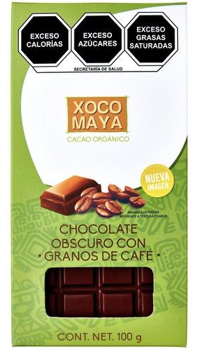 Imagen 1 de 7 de Barra De Chocolate Oscuro Con Granos De Café Xoco Maya