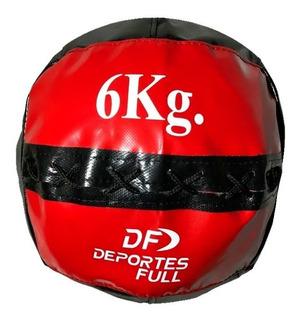 Medicine Ball De Lona 6 Kg Full Box Tipo Dinamax Crossfit