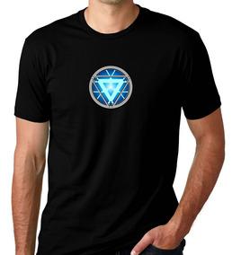 Camiseta Preta Reator Arc Homem Ferro Vingadores Nuclear 3