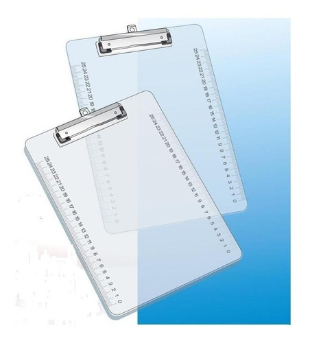 Tabla Porta Block A4 Acrilica Cristal Planilla Aprieta Papel