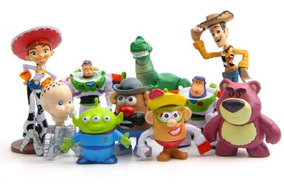 Kit Toy Story Com 10 Bonecos - Woody Buzz Lightyear