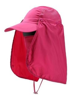 Gorra Proteccion Solar Cuello Upf 50 Para Campismo Pesca
