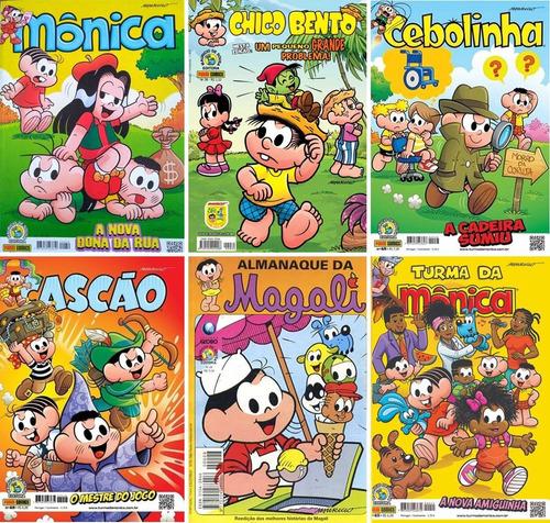 Turma Da Mônica Kit Com 10 Gibis Novos Sem  Repetição.
