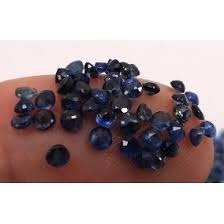 Safira Redonda Natural 2,0 Mm Azul Extra 01 Pedras