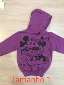 Blusa De Frio Infantil Inverno Disney Feminina