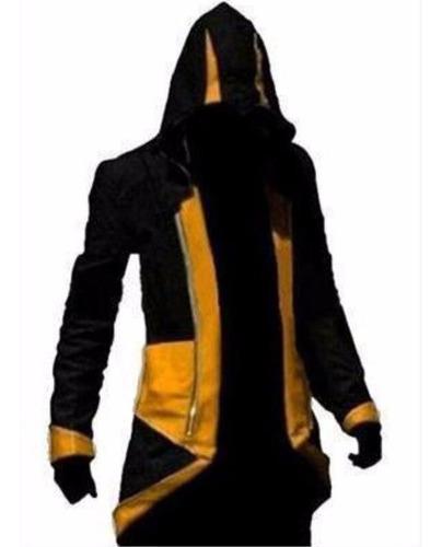 Chaqueta Negra Amarilla Fashion Hombre Assassins Creed //