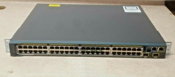 Switch Cisco 2960s 48lpd-l Poe C/ Stack E Cabo Stack 50cm