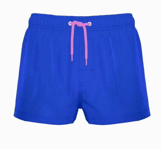 Traje De Baño Corto Azul Liso Crouch