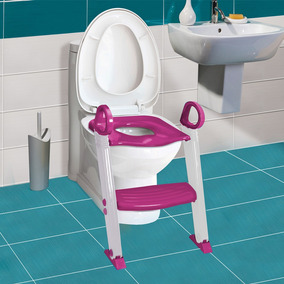 Assento Redutor Com Escada Rosa - Clingo
