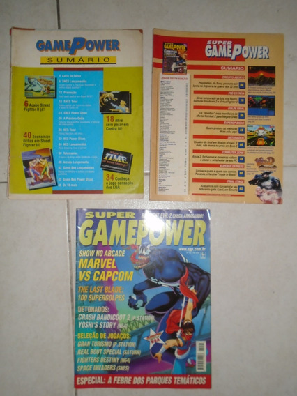 Revista Gamepower Nº 1, Super Gamepower Nº 8 E Nº 48 (lote)