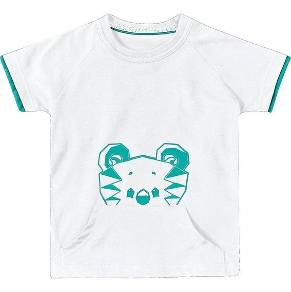 Camiseta Tigor T. Tigre Bebê Menino Branco