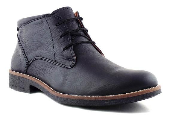 Bota Hombre Cuero Borcego Briganti Zapato Botita Hcbo00902 2