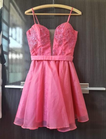 Vestido De Mademoiselle, Debutante Ou Dama Rosa Pink