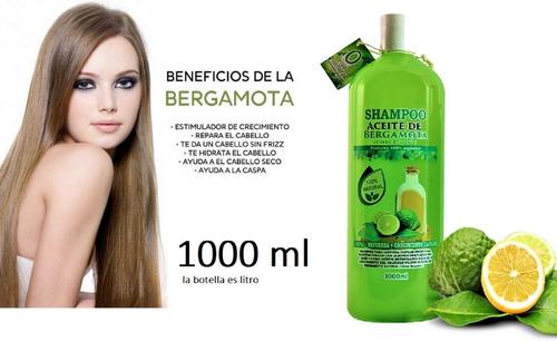 Imagen 1 de 5 de Shampoo De Bergamota Para Crecimiento Capilar Y Alopecia