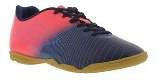 Tenis Umbro Futsal Masculino Indoor Vibe Azulmar/rosa