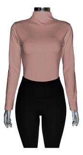 Conjunto Térmico, Blusa Cuello Alto + Leggings Pretina Ancha