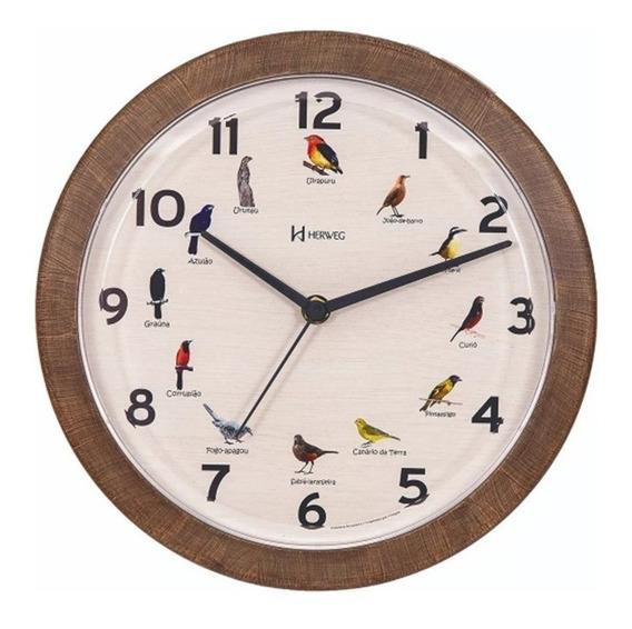 Relógio Parede Passarinhos 6658 Canto Passaros Brasileiros