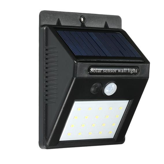 Luces De Pared Solares Del Sensor, 20led Impermeabilizan El