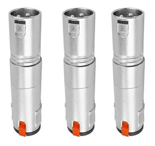 Imagem 1 de 7 de Kit 3 Plug Adaptador Star Cable Xlr  M  - Jack J10m C/ Trava
