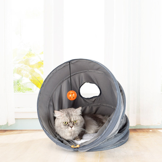 3 Em 1 Pet Caverna Cama Gato Tnel Brinquedo Gato Tnel De