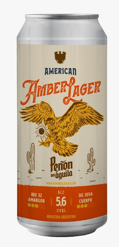 Peñón Del Aguila American Amber Lager Six Pack Lata X473 Ml