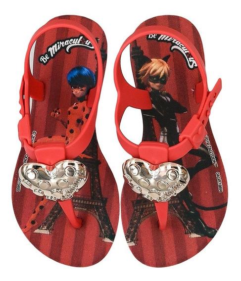 Sandália Infantil Ladybug Paris Love Feminina Grendene Kids