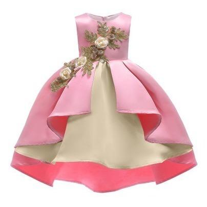 Vestido Corto Para Niñas Para Fiesta De 130cm De Largo