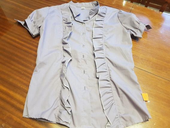 Camisa Con Volados Ts Color Lila