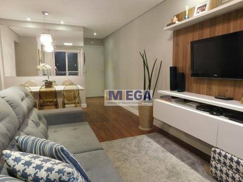 Imagem 1 de 8 de Apartamento Com 2 Dormitórios À Venda, 64 M² Por R$ 375.000 - Vila Industrial - Campinas/sp - Ap5012