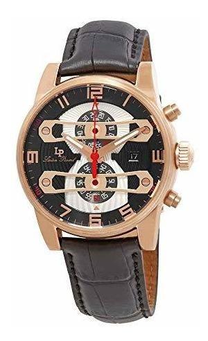 Lucien Piccard Lp-40045-rg-01 Bósporus Reloj Negro De Cuarzo